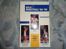 1989-90 UCLA BRUINS BASKETBALL MEDIA GUIDE Yearbook 1990 College Program NCAA AD