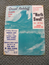 Vintage Grant Rohloff Surf movie poster north swell surfing surfboard surfer 60s