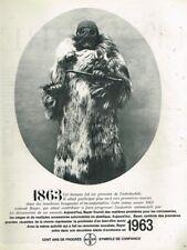 G- Publicité Advertising 1963 Bayer Symbole de Confiance