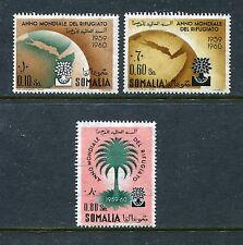 Somalia 239-241, MNH, World Refugee Year, Globe, Map 1960. x27913