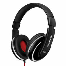 Audiance A2 Premium Over Ear Stereo Headphones Black & Silver (3.5mm Audio Jack)