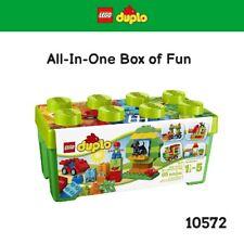 LEGO DUPLO 10572 Wagon Base Window Elements Dog Numbered Bricks w Storage Box