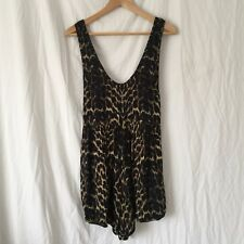WOMENS Size M One Teaspoon Romper Playsuit Animal Print Festival Summer