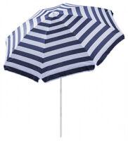 Outdoor Beach Umbrella Hawaii 1.8m Sun shade w/ Carry Bag Tilt Pool Blue Stripe