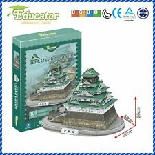 Free shipping3D Puzzle Model Japan building Osaka Castle Paper Diy