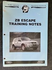 "FORD "" ZB ESCAPE ""  2004  Genuine SERVICE TRAINING NOTES rare"
