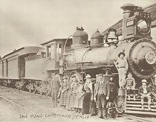 "SAN JUAN CAPISTRANO Photo Print TRAIN Station Depot  LOCOMOTIVE #873 11"" X 14"""
