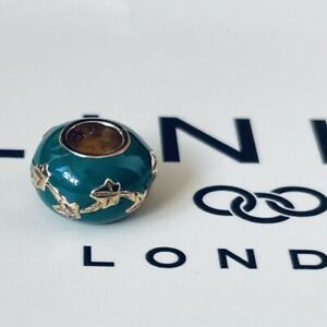 Links of London 18ct Yellow Gold Vermeil Ivy Play Bead ~ NEW