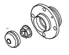 VAUXHALL WHEEL BEARING KIT - GENUINE NEW - 93168760