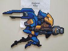 Pharah Overwatch Bead Sprite Perler Art Spray Offense Hero Blizzard Pixel