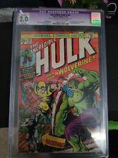 Incredible Hulk 181 CGC 2.0 - 1st Wolverine Appearance - MVS Complete - MCU