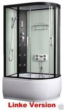 Duschtempel Fertigdusche Duschkabine Echt Glas Komplettdusche Wanne 120 x 81 CM