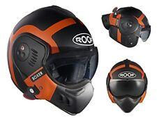 Casco plegable Roof Boxer V8 Bond color negro mate / GR naranja m ( 58)