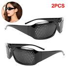 2 Pair Pinhole Glasses Eyes Correction Exercise Eyesight Vision Care Improvement