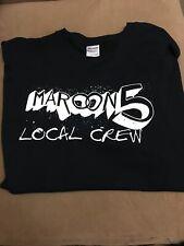 Maroon 5 Tour Concert Local Crew Tee T Shirt Men Xl Black Backstage