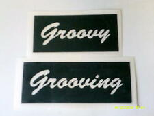 10 x Groovy / Grooving word stencils for glitter tattoos airbrush festival hippy