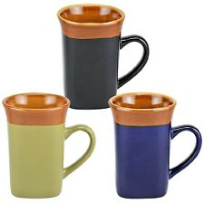 MUGS!STONEWARE,COFFEE,TEA,ETC,SQUARE SHAPED,TWELVE(12)!NWT,HEFTY,FREE SHIP!