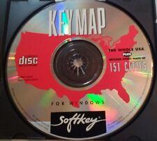 Key Map Usa Streets Windows Cd-Rom 90's Softkey B4 Gps? Rare Vhtf Retro Tech!