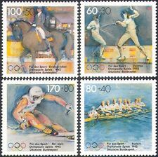 Germany 1992 Olympics/Sports/Games/Horses/Rowing/Fencing/Skiing 4v set (n27937)