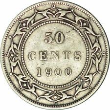 1900 NEWFOUNDLAND CANADA 50 CENTS KEY DATE/LOW MINTAGE HIGH GRADE CIRC!-d408duth