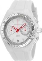 TechnoMarine TM-115330 Men's Cruise Sport Chronograph White Silicone & Dial
