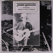 JIMMIE RODGERS: America's Blue Yodeler LP (2 LP box w/ booklet, minor h2o damag