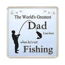 DAD Novelty 'FISHING' Fridge Magnet Fun Fisherman Present Gift Idea
