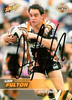 ✺Signed✺ 2008 WESTS TIGERS NRL Card LIAM FULTON Centenary