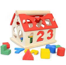 Toys Building Baby Developmental Kids Intellectual Educational Wood Blocks House