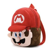 Kids Toddler Mini Plush Super Mario Backpack Bag - NEW - 21 * 23cm