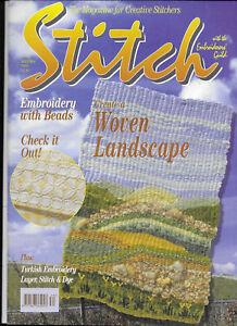Stitch Magazine Embroiderers Guild No 34 Woven Landscape Bead Embroidery