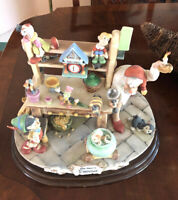 Disney Limited Edition Capodimonte Laurenz Pinocchio Gepetto Workshop Statue