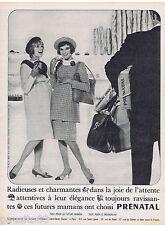 PUBLICITE ADVERTISING 115  1961  PRENATAL  robe de grossesse maternité