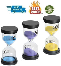 Sand Timer 3 Pack Hourglass Timer Sandglass Hourglass Sand Clock 10 15 30 Minute
