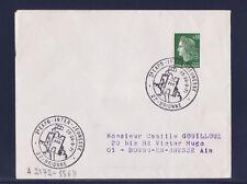 ec71/ Enveloppe   2ème expo inter jeunessse   Brionne   1971
