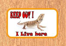Bearded Dragon Fun Novelty  Metal Door Sign