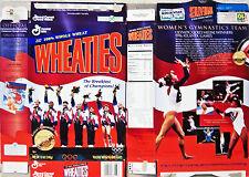 1996 Womens Gymnastics Team Cereal Box kz289