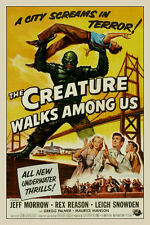 "The Creature Walks Among Us! Sci-Fi Movie Poster 12"" X 18"""