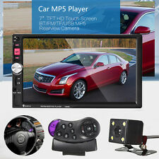 7'' 2 DIN BLUETOOTH AUTORADIO TOUCH SCREEN MP5 FM + TELECOMANDO VOLANTE +CAMERA