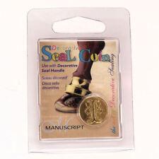 Manuscript Decorative Wax Sealing 18mm Coin Seal - Initial I