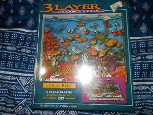 Buffalo Games 540 Piece 3 Layer Jigsaw Puzzle Coral Reef 1994 NIB