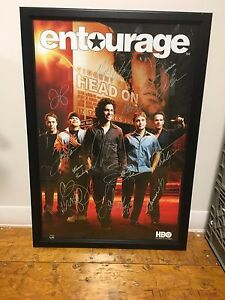 Entourage Series Poster: Signed By 12 Members of the Cast Steiner COA