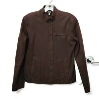 Eileen Fisher Jacket Womens Chocolate Brown Long Sleeve Zip Up Size X-Small XS