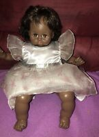"""Madame Alexander 18"""" African American black 1977 Adorable Pussycat Doll"""