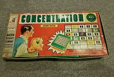 Concentration Second Edition Board Game #4950 Milton Bradley 1959