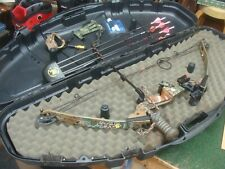 """PSE Infinity Compound Bow Archery Hunting, RH, 50# 28"""", with Accessories & case"""