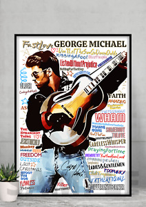 George Michael Faith Pop Art Typography Collectable/Gift/Memorabilia