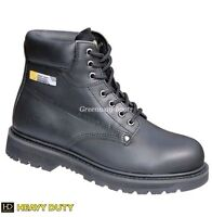 MENS HEAVY DUTY LEATHER WATERPROOF SAFETY WORK BOOTS SHOES STEEL TOE CAP SIZE