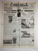 N1061 La Une Du Journal Le petit Parisien 8 mai 1937 le hindenburg