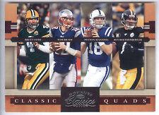 2008 Classics Quads #6 B Favre T Brady P Manning B Roethlisberger #0947/1000